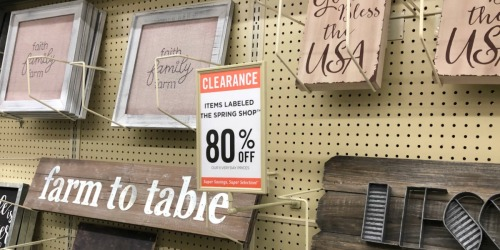 80% Off Farmhouse Decor at Hobby Lobby
