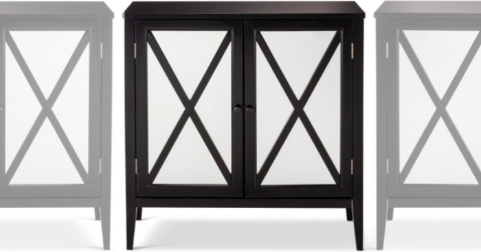 Hop Over To Target And Score This Highly Rated Threshold Wooddale Two Door Mirrored Storage Cabinet In Black For Just 84 99 Shipped Regularly 169