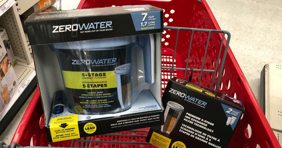 Zerowater Water Filter Pitcher Only 9 99 At Target