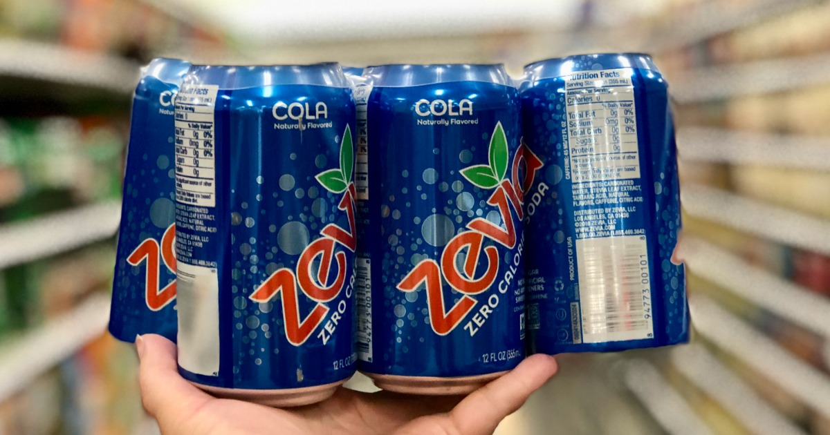 Zevia Natural Soda 6 Pack Just 1 18 Only 20 162 Per Can At