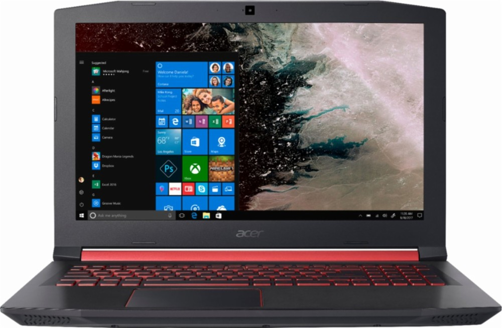 acer laptop with home screen picture and windows tab open
