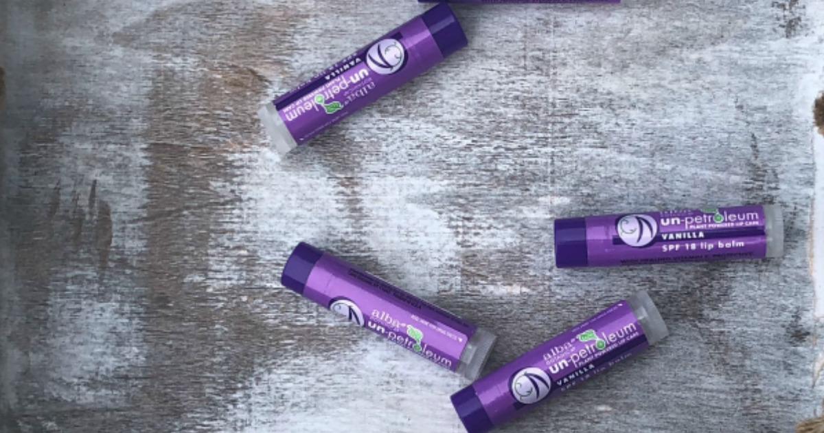 alba botanica un-petroleum lip balm – The tubes, spread out