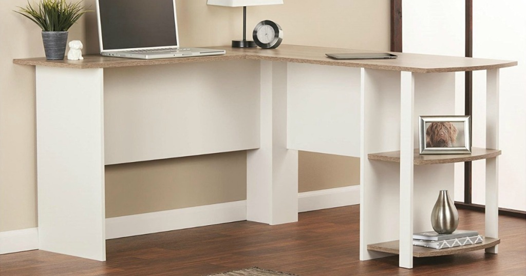 Peachy Amazon Ameriwood Home L Shaped Desk W Bookshelves Only Download Free Architecture Designs Licukmadebymaigaardcom