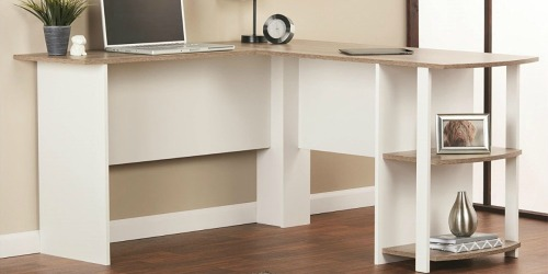 Amazon: Ameriwood Home L-Shaped Desk w/ Bookshelves Only $53.96 Shipped (Regularly $81)