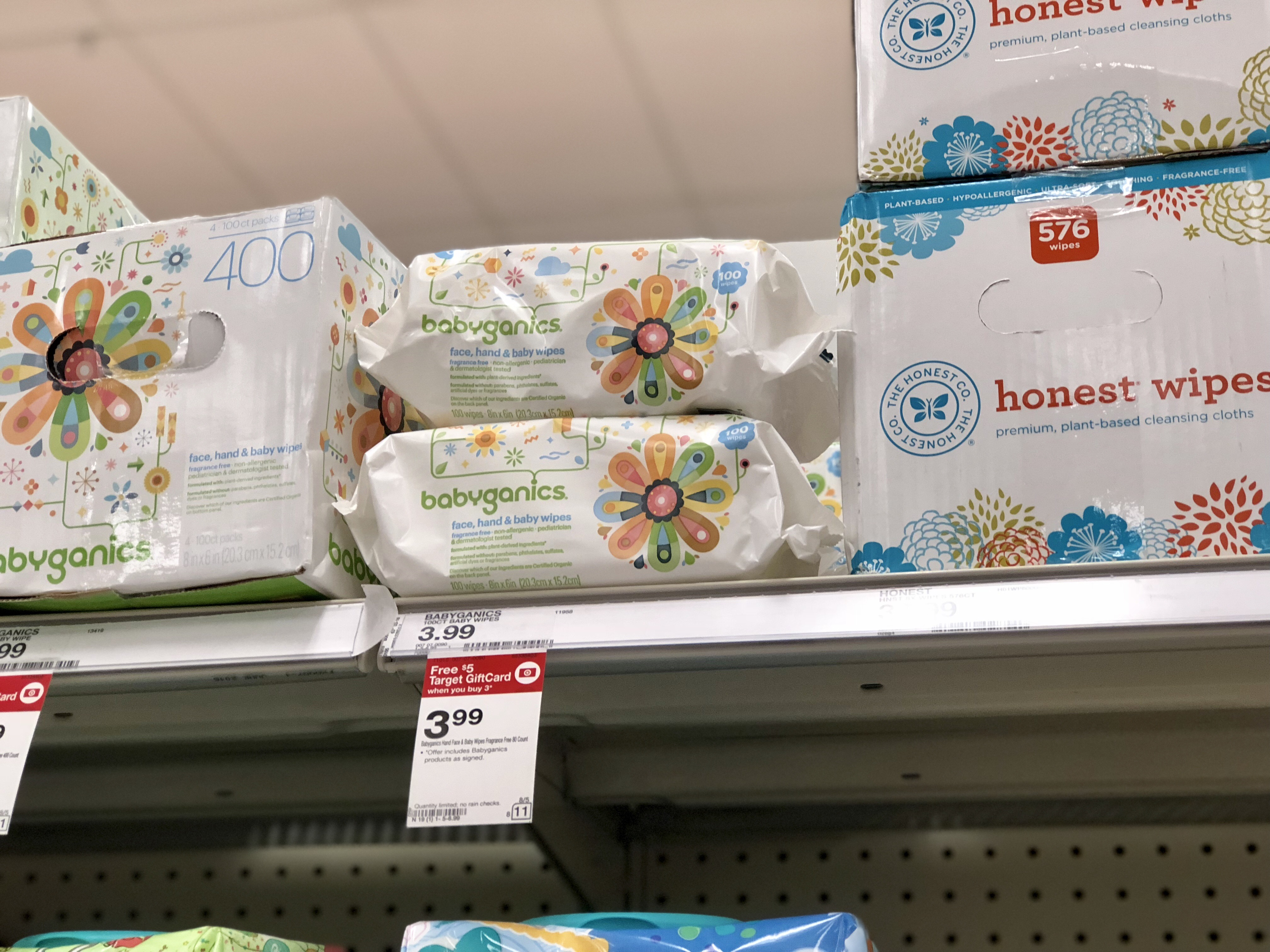 picture about Babyganics Coupon Printable identify Babyganics Boy or girl Wipes Basically $1.32 When Aim Present Card
