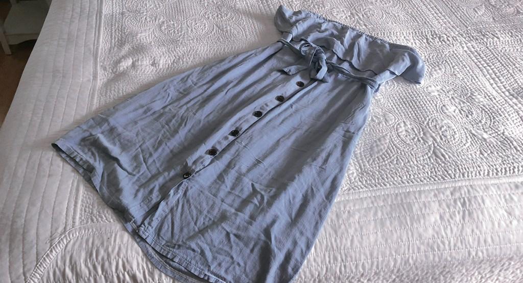 amazon dress originally white dyed blue