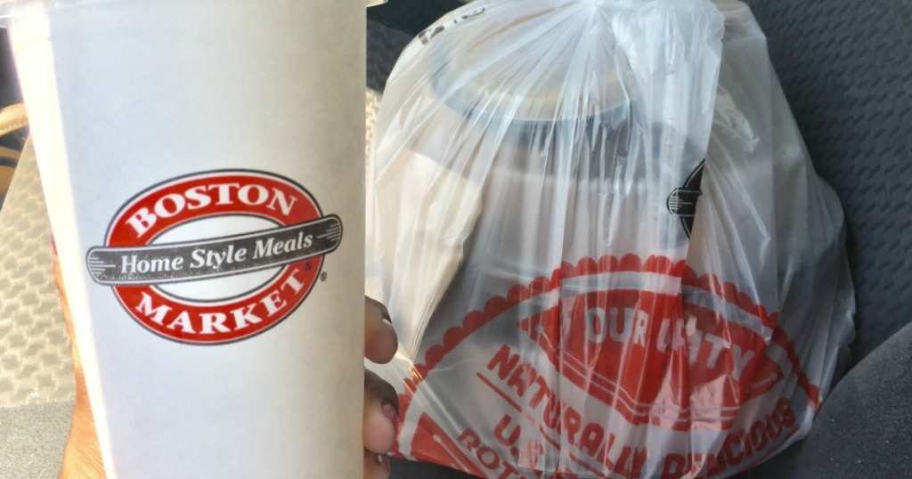 Boston Market drink and meal