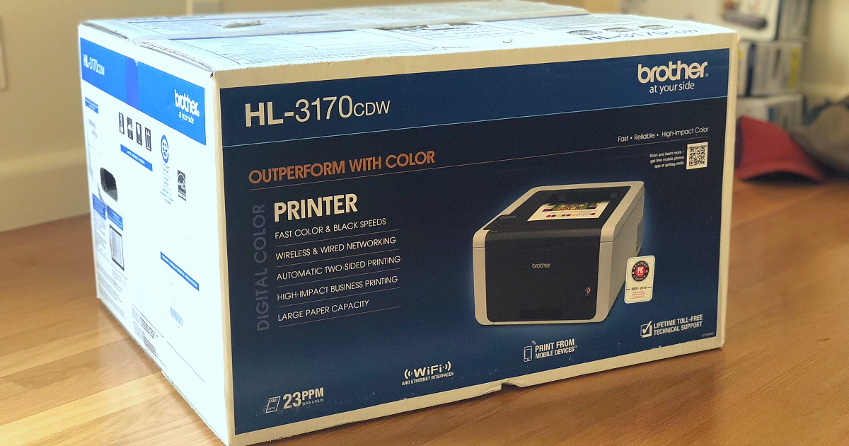 how i saved money at staples - a brother printer box