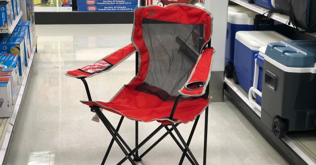 Target Coleman Mesh Quad Camping Chair Only 12 59