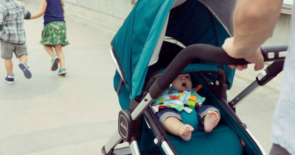baby in Diono stroller
