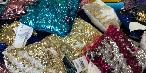 Mermaid Sequin Pillows Only $1 at Dollar Tree + More Fun Finds