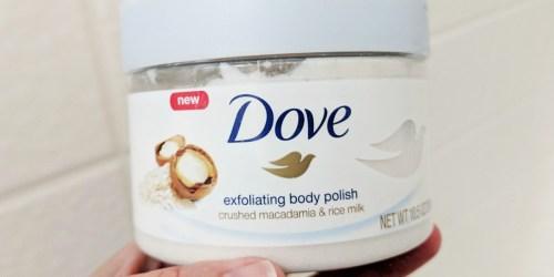 Dove Macadamia & Rice Milk Exfoliating Body Polish Only $3.35 Shipped on Amazon
