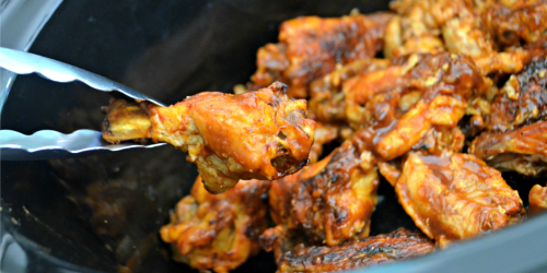 Easy Slow Cooker Buffalo BBQ Chicken Wings