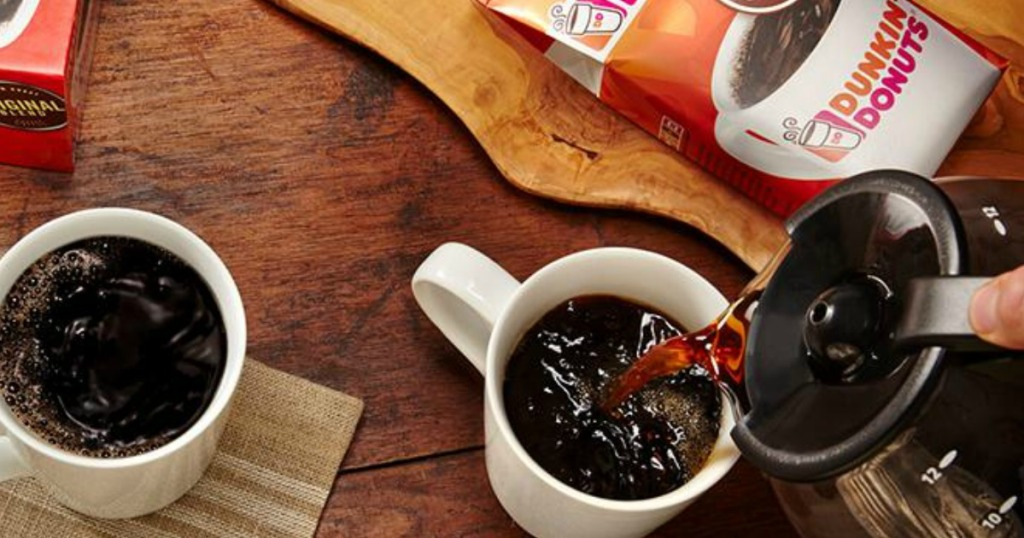 Dunkin Donuts coffee in mug