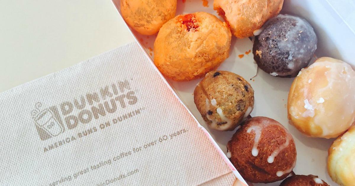 pumpkin maple coffee fall dunkin donuts - donut holes