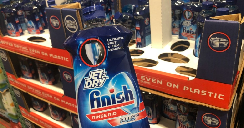 bottle of Finish Jet Dry