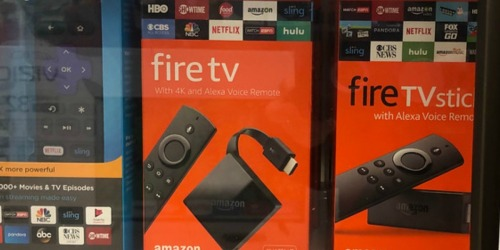 TWO Fire Amazon TV Sticks w/ Alexa Voice Remote Only $39.99 Shipped