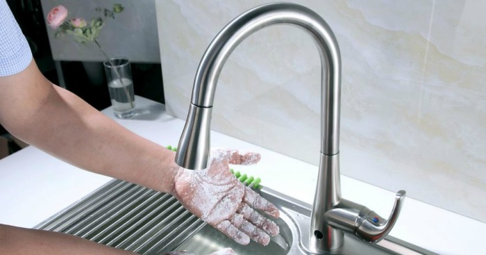 Home Depot Flow Motion Activated Kitchen Faucet Just 129 Shipped