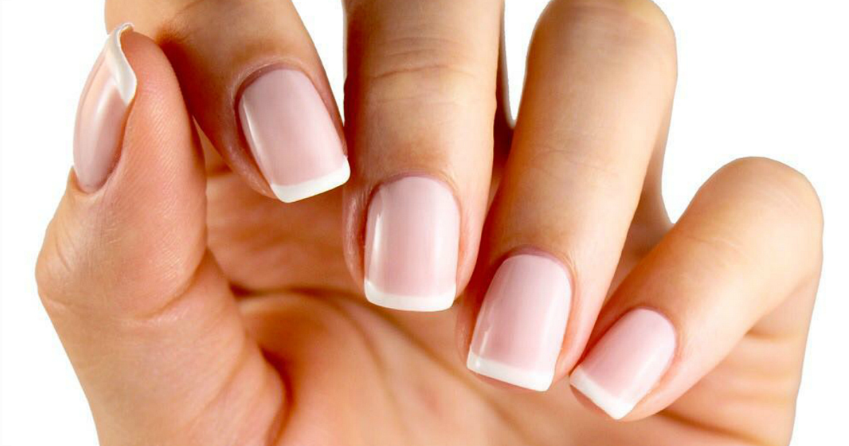 ella + mila French mani set deal – closeup of a French manicure
