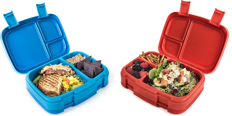 blue and red 4-compartment bentgo boxes