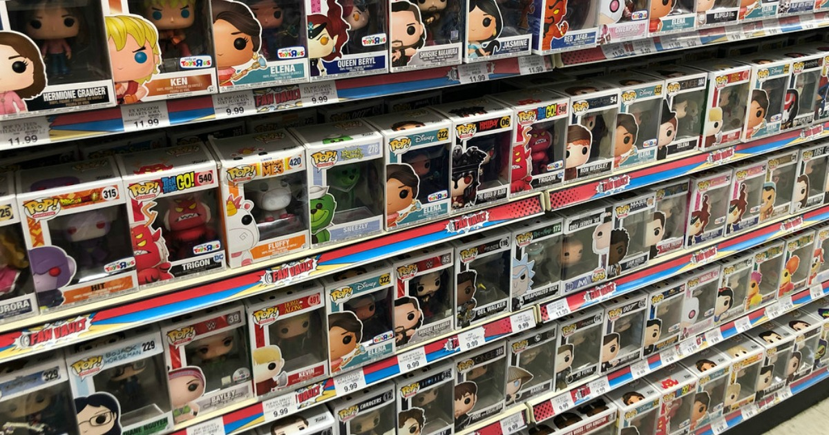 target 2018 toy catalog and gift card – FunkoPop lining the shelves