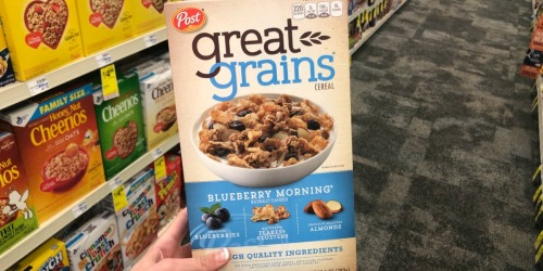 Post Great Grains Cereal Only 99¢ Each After Cash Back at CVS