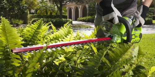Sears: Greenworks Cordless Hedge Trimmer Only $79.99 Shipped (Regularly $200)