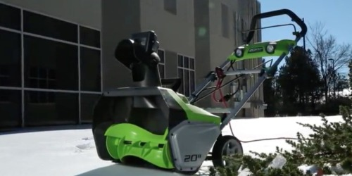Greenworks Corded Snow Blower Only $99.99 Shipped + Get $41 in Points at Kmart.com