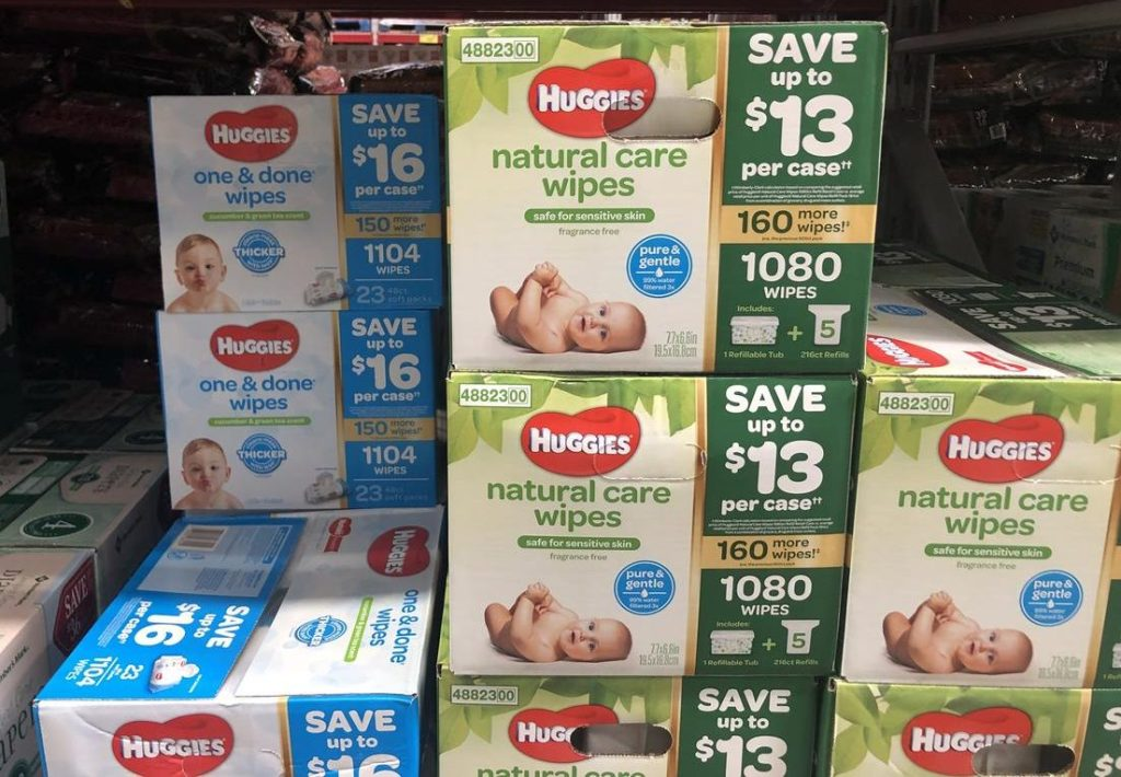 Huggies wipes at Sam's Club