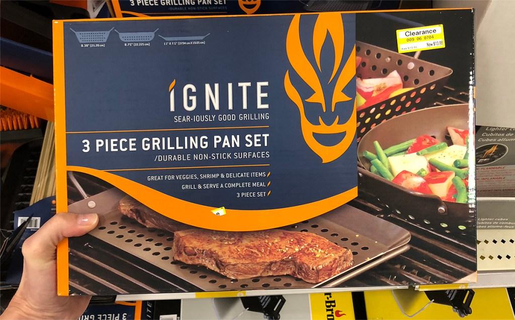 Ignite 3 Piece Non Stick Grill Topper Set