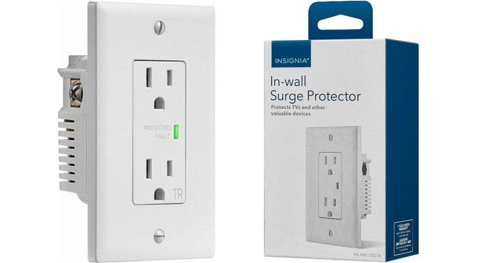 stock image of Insignia 2-Outlet In-Wall Surge Protector
