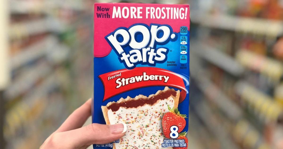 image relating to Pop Tarts Coupons Printable named Kelloggs Pop Tarts 8-Depend Basically 99¢ When Dollars Again at CVS