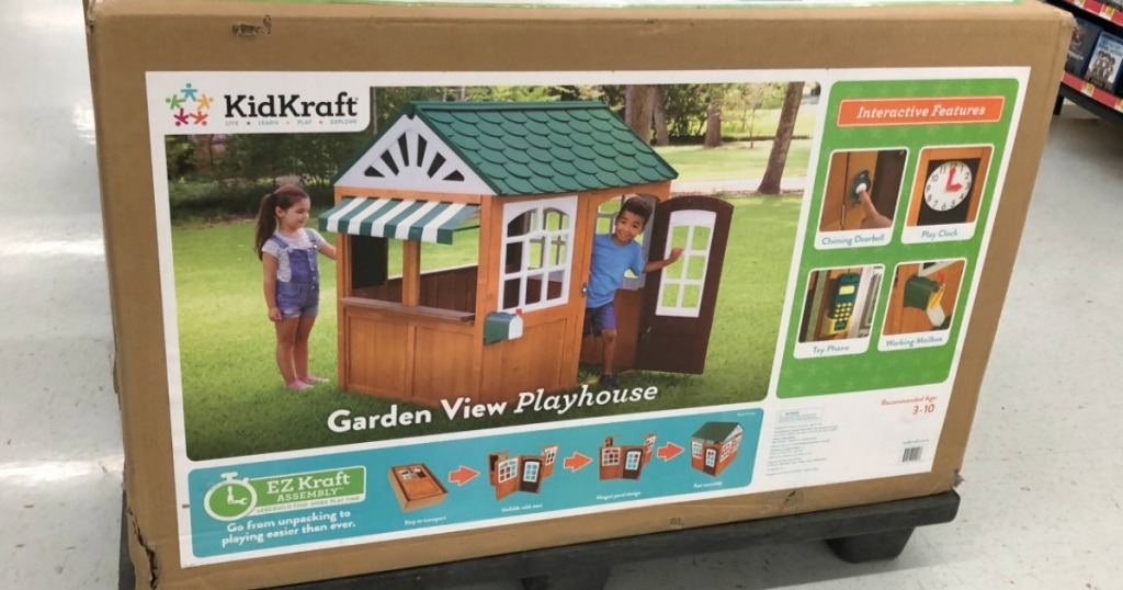 kids playhouse on display in a store