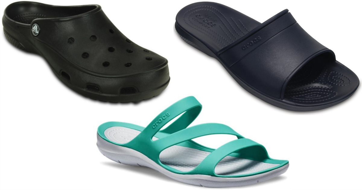 crocs brand deals – three styles of shoe