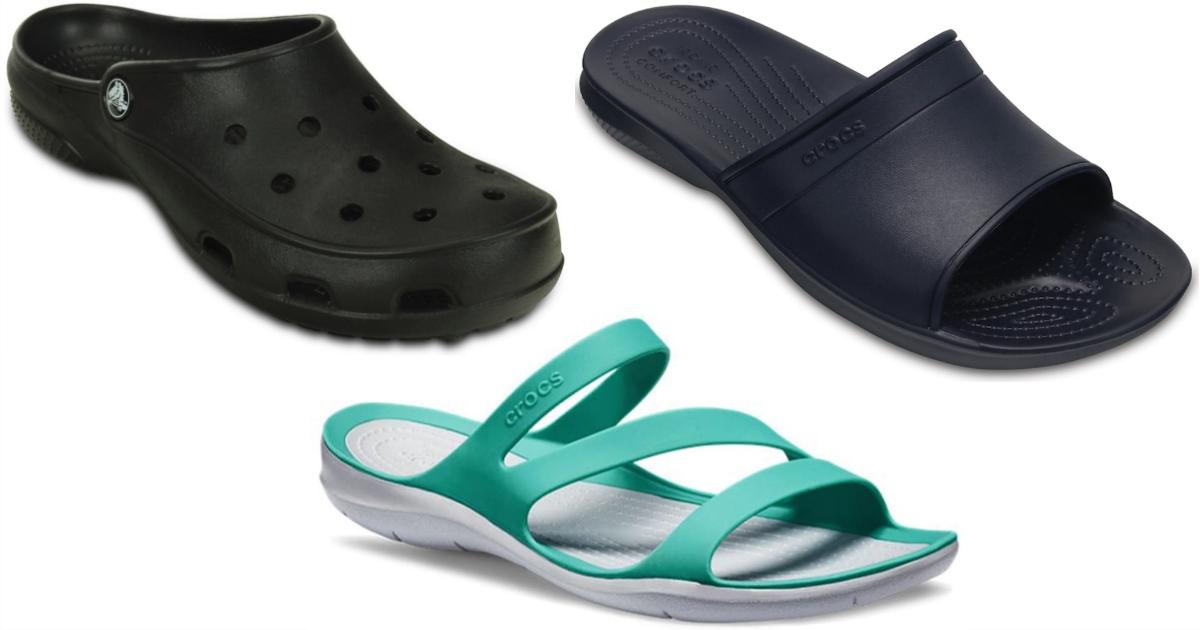 crocs brand deals – three styles of shoe