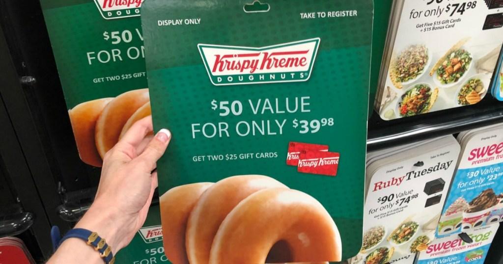 Krispy kreme gift cards at sams club