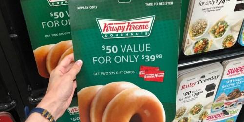 $50 Worth of Krispy Kreme Gift Cards Just $37.50 Shipped on SamsClub.com