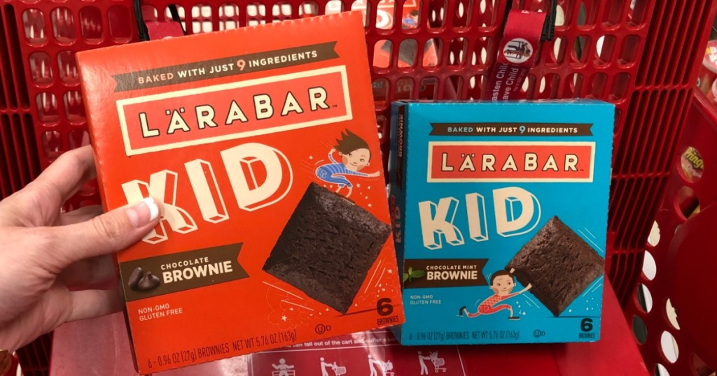 New 1 1 Larabar Kid Brownie Coupon Only 1 At Target After Cash