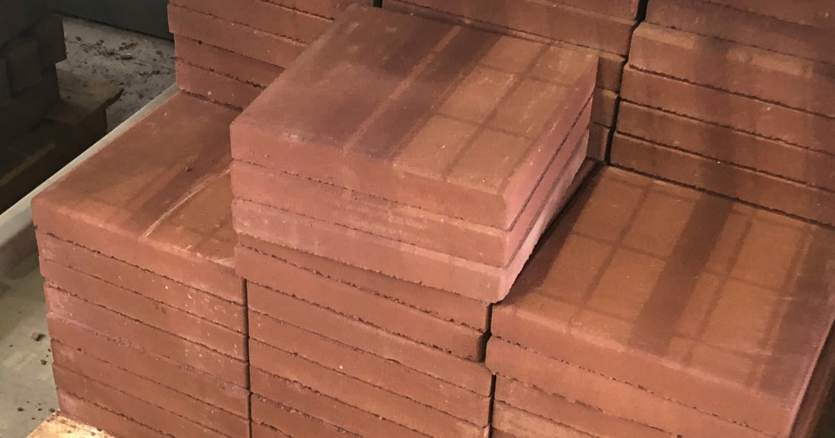 Lowes Patio Concrete Squares in Red