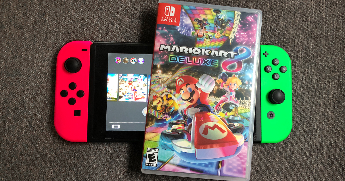 mario kart deluxe 8 game on Nintendo Switch