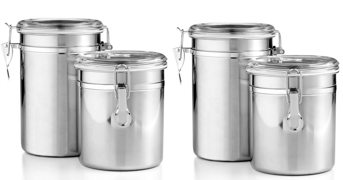 stewart kitchen canisters martha stewart stainless steel canisters set just 7 99 at
