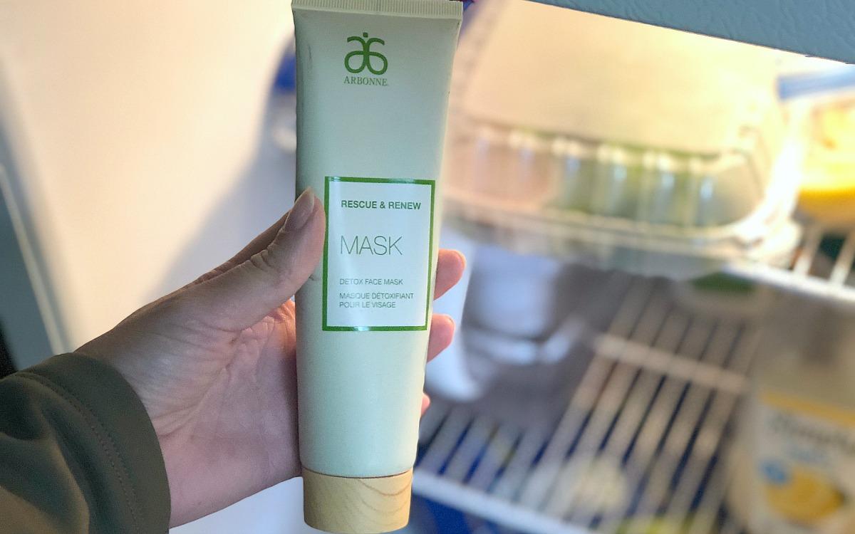 clever makeup hacks – putting face mask into fridge