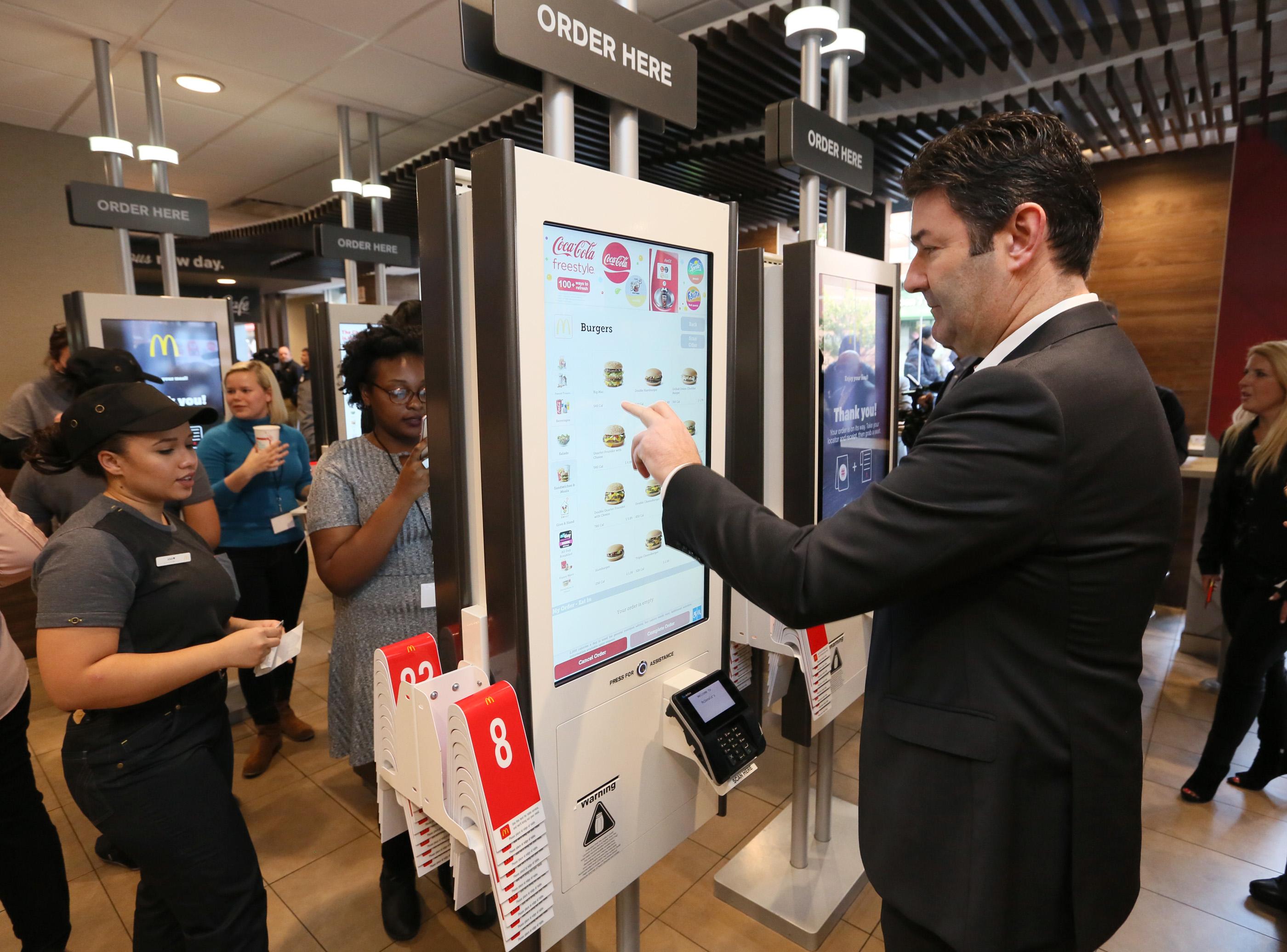mcdonalds plans restaurant improvements potentially like these ordering kiosks