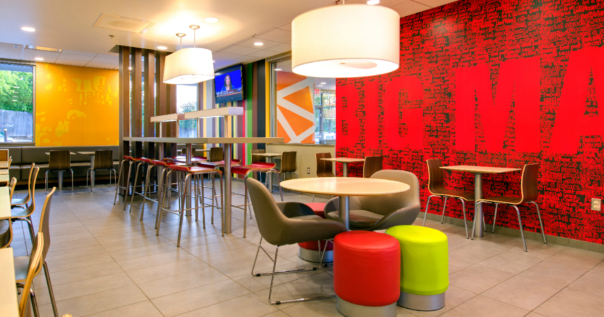 mcdonalds plans restaurant improvements potentially like this open dining area