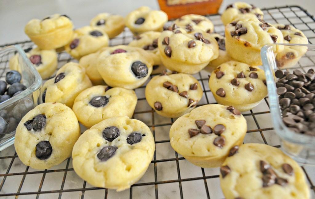 mini gluten free pancake bites