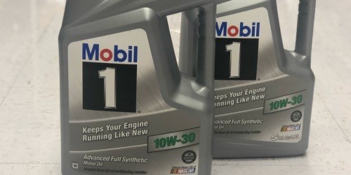 Five Quarts Mobil 1 Motor Oil, Oil Filter & NBA Sports Bag ONLY $29.99 Shipped ($75+ Value)