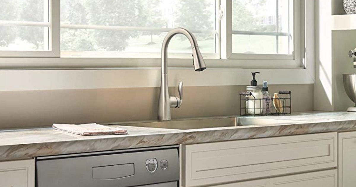 Amazon Moen Pulldown Stainless Kitchen Faucet Just 166 95 Shipped