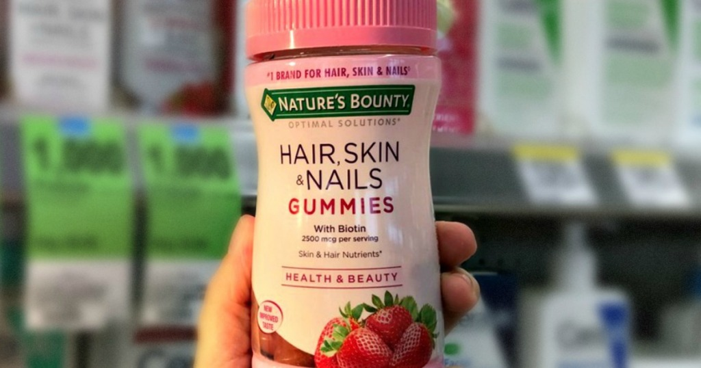 Over 60% Off Nature\'s Bounty Hair, Skin & Nails Gummies at Walgreens ...