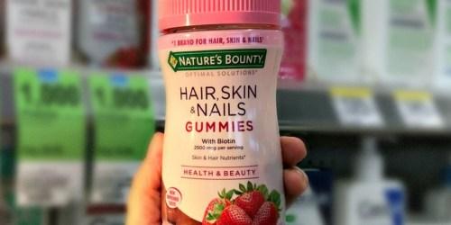 Over 60% Off Nature's Bounty Hair, Skin & Nails Gummies at Walgreens.com