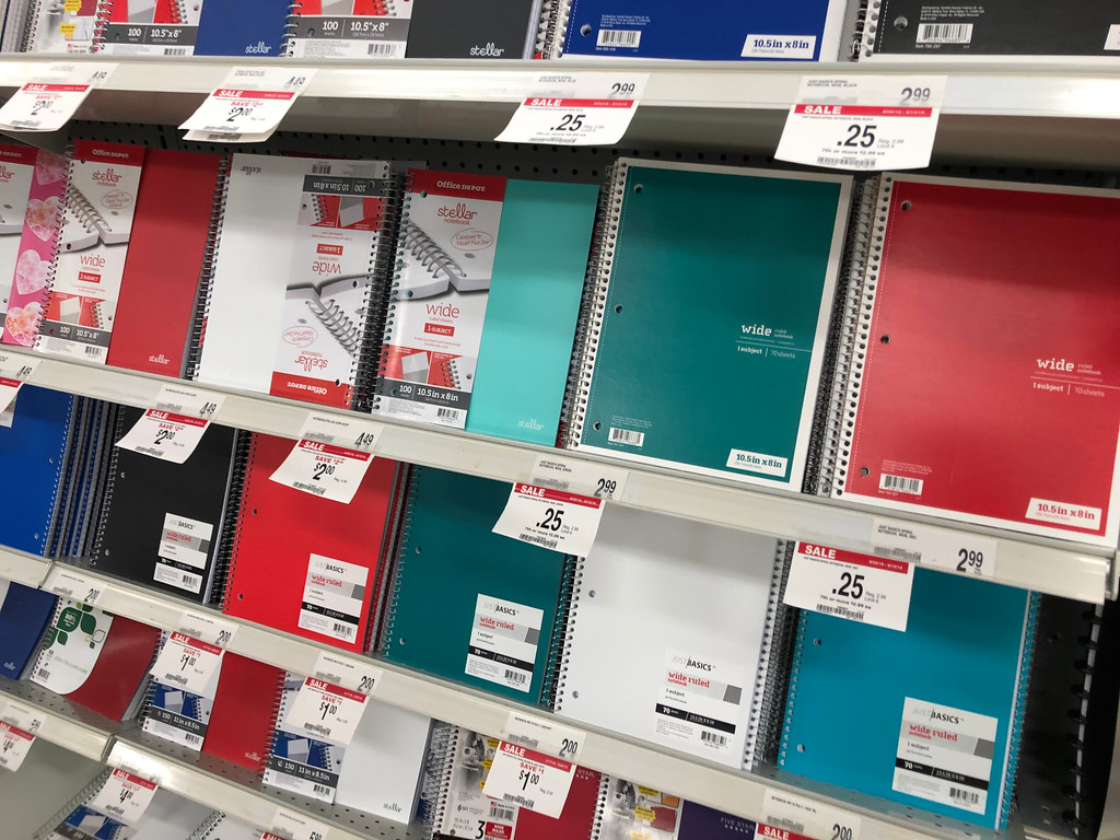 Office Depot notebooks